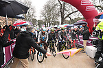 The start of the 2018 Strade Bianche NamedSport race running 184km from Siena to Siena, Italy. 3rd March 2018.<br /> Picture: LaPresse/Massimo Paolone | Cyclefile<br /> <br /> <br /> All photos usage must carry mandatory copyright credit (© Cyclefile | LaPresse/Massimo Paolone)