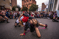 BOGOTA - COLOMBIA, 04-07-2021: Cientos de personas participaron en la Marcha LGBTIQ+ Bogotá 2021 realizada por las calles del centro de Biogotá, Colombia, hoy 04 de julio de 2021. / Hundreds of people participated in the LGBTIQ+ Bogota 2021 March carried out in the streets of downtown Bogota, Colombia, today July 4, 2021. Photo: VizzorImage / Diego Cuevas / Cont