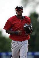 Altoona Curve infielder Oscar Tejeda (25) during game against the Trenton Thunder at Samuel L. Plumeri Sr. Field at Mercer County Waterfront Park on August 22, 2012 in Trenton, NJ.  Altoona defeated Trenton 14-2.  Tomasso DeRosa/Four Seam Images