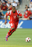 Luis Henriquez defender Panama in action...Canada and Panama played to a 1-1 tie in Gold Cup play at LIVESTRONG Sporting Park. Kansas City Kansas.