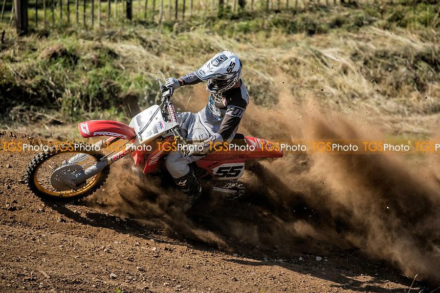 Steve Bixby through the bend in the South Eastern EVO during the Richard Fitch Memorial Trophy Motocross at Wakes Colne MX Circuit on 18th July 2021