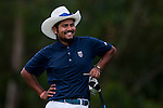 Aman Raj of India in action during the 9th Faldo Series Asia Grand Final 2014 golf tournament on March 19, 2015 at Faldo course in Mid Valley clubhouse in Shenzhen, China. Photo by Xaume Olleros / Power Sport Images