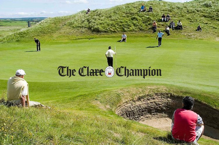 The 9th green at Lahinch Golf Club.Pic Arthur Ellis.