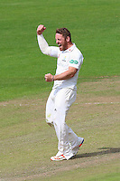 David Lloyd of Glamorgan celebrates taking the wicket of Daniel Lawrence during Glamorgan CCC vs Essex CCC, Specsavers County Championship Division 2 Cricket at the SSE SWALEC Stadium on 23rd May 2016
