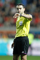 Rumania's referee Ovidiu Hategan during international match of the qualifiers for the FIFA World Cup Brazil 2014.March 22,2013.(ALTERPHOTOS/Acero)