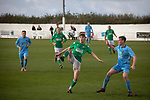 Holker Old Boys 2 Crook Town 1, 10/10/2020. Rakesmoor, FA Vase second round qualifying. First-half action as Holker Old Boys (in green) take on Crook Town in an FA Vase second round qualifying tie at Rakesmoor, Barrow-in-Furness. The home club was established in 1936 as Holker Central Old Boys and was initially an under-16 team for former pupils of the Holker Central Secondary School. Holker from the North West Counties League beat their Northern League opponents 2-1, watched by a crowd of 147 spectators. Photo by Colin McPherson.