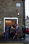 Fans queuing for refreshments at a sandwich bar near the stadium before Burnley hosted Everton in an English Premier League fixture at Turf Moor. Founded in 1882, Burnley played their first match at the ground on 17 February 1883 and it has been their home ever since. The visitors won the match 5-1, watched by a crowd of 21,484.