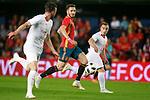 Spain's Saul Niguez (c) and Switzerland's Josip Drmic (l) and Xherdan Shaqiri during international friendly match. June 3,2018.(ALTERPHOTOS/Acero)