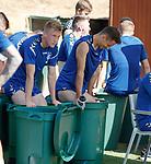 20.06.18 Ross McCrorie and Nikola Katic take an ice bath
