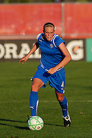 Stacy Bishop (4) of the Boston Breakers. Sky Blue FC defeated the Boston Breakers 2-1 during a Women's Professional Soccer match at Yurcak Field in Piscataway, NJ, on May 31, 2009.