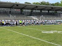 Seitenlinie Frankfurt Galaxy - Stuttgart: 27.06.2021: Stuttgart Surge vs. Frankfurt Galaxy, GaZi Stadion, ELF 2. Spieltag