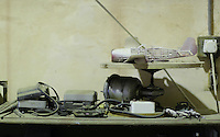 Pictured: Various items including a model aeroplane in the artist's studio Friday 02 December 2016<br /> The Sidney Nolan Trust, Rodd, Herefordshire, England, UK