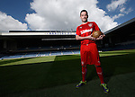 Nicky Clark at Ibrox for the third kit launch