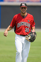 Erik Morrison #31 of the Hickory Crawdads at L.P. Frans Stadium August 9, 2009 in Hickory, North Carolina. (Photo by Brian Westerholt / Four Seam Images)