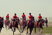 "Horse races known as ""Al-Chabysh"" are one of the ancient Kyrgyz equestrian sports. Riders compete from age as young as 10 for the children categories and cover distances that can go up to 22 km."