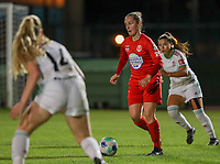 Stefanie Deville (13) of Woluwe in action during a female soccer game between FC Femina White Star Woluwe and Oud Heverlee Leuven on the fourth matchday in the 2021 - 2022 season of Belgian Scooore Womens Super League , Friday 10 th of September 2021  in Woluwe , Belgium . PHOTO SPORTPIX   SEVIL OKTEM