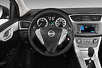 Nissan Sentra SR Sedan Steering wheel 2013 Stock Photo