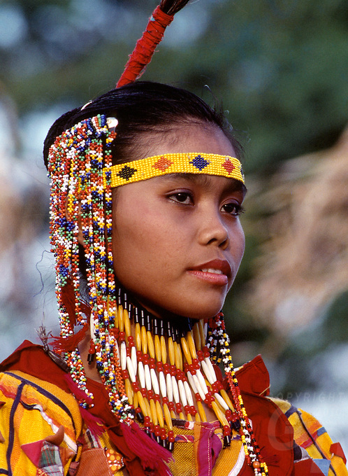 A proud Tiboli Tribes women from the south of the Philippines, Mindanao, these women dress up very nice for any festival or special events