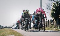 Sep Vanmarcke (BEL/Education First-Drapac) & Matteo Trentin (ITA/Michelton-Scott) <br /> <br /> 70th Kuurne-Brussel-Kuurne 2018<br /> Kuurne › Kuurne: 200km (BELGIUM)