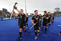 Blacksticks men celebrate during the Pro League Hockey match between the Blacksticks men and the Argentina, Nga Punawai, Christchurch, New Zealand, Friday 28 February 2020. Photo: Simon Watts/www.bwmedia.co.nz