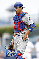 July 10, 2009:  Catcher Robinson Chirinos of the Daytona Cubs during a game at George M. Steinbrenner Field in Tampa, FL.  Daytona is the Florida State League High-A affiliate of the Chicago Cubs.  Photo By Mike Janes/Four Seam Images