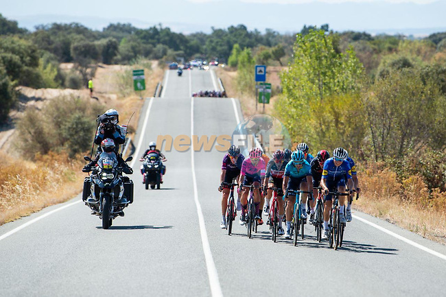 The breakaway during Stage 15 of La Vuelta d'Espana 2021, running 197.5km from Navalmoral de la Mata to El Barraco, Spain. 29th August 2021.    <br /> Picture: Cxcling | Cyclefile<br /> <br /> All photos usage must carry mandatory copyright credit (© Cyclefile | Cxcling)
