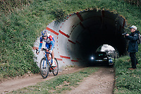 exiting the tunnel<br /> <br /> 35th Tro Bro Leon 2018<br /> 1 Day Race: Le Carpont - Lannilis (FRA/203km)