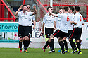 Clyde's Ross McKinnon (left) celebrates after he scores their first goal.