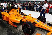 Verizon IndyCar Series<br /> Indianapolis 500 Qualifying<br /> Indianapolis Motor Speedway, Indianapolis, IN USA<br /> Saturday 20 May 2017<br /> Fernando Alonso, McLaren-Honda-Andretti Honda<br /> World Copyright: Phillip Abbott<br /> LAT Images<br /> ref: Digital Image abbott_IndyQ-0517_19376