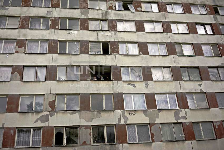 Lunik IX is now home to about five thousand Roma, since 2011 the local government have demolished five blocks subsequently living Roma inhabitant now where to live.