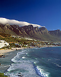 "South Africa, Cape Town, Clifton Beach at Bantry Bayand ""12 Apostle"" Mountains"