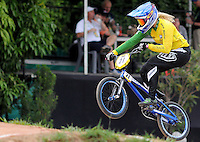 MEDELLIN- COLOMBIA -29-05-2016: Lauren Reynolds (AUS) durante su participación en la categoría elite mujeres en el marco del Campeonato Mundial de BMX 2016 que se realiza entre el 25 y el 29 de mayo de 2016 en la ciudad de Medellín. / Lauren Reynolds (AUS) during her performance in the women elite's categories as part of the 2016 BMX World Championships to be held between 25 and 29 May 2016 in the city of Medellin. Photo: VizzorImage / Cristian Alvarez / CONT