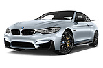 Stock pictures of low aggressive front three quarter view of a 2018 BMW M4 Base 2 Door Coupe