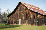 Wooden barn near Coulterville, Calif.