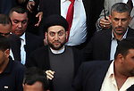 BAGHDAD, IRAQ: Amar Abdulaziz Hakim the leader of the Islamic Supreme Council of Iraq attends the funeral of the victims who died during the siege of the Our Lady of Salvation Catholic Church in Baghdad...At least 52 people were killed when Iraqi troops raided the Our Lady of Salvation Catholic Church where gunmen were holding hostages on Sunday...Photo by Ceerwan Aziz/Metrography