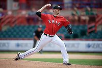 Erie SeaWolves relief pitcher A.J. Achter (31) delivers a pitch during a game against the Reading Fightin Phils on May 18, 2017 at UPMC Park in Erie, Pennsylvania.  Reading defeated Erie 8-3.  (Mike Janes/Four Seam Images)
