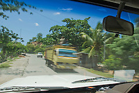 Truck on a road south of Dili, Timor-Leste (East Timor)
