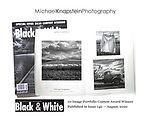 A portfolio of photographs by Michael Knapstein won a merit award and three of them were printed in Black & White magazine.