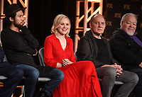 """PASADENA, CA - JANUARY 9: (L-R) Cast members Jin Ha, Alison Pill, Zach Grenier, and Stephen McKinley Henderson attend the panel for """"Devs"""" during the FX Networks presentation at the 2020 TCA Winter Press Tour at the Langham Huntington on January 9, 2020 in Pasadena, California. (Photo by Frank Micelotta/FX Networks/PictureGroup)"""