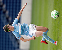 Chicago Red Star midfielder Megan Rapinoe (9) dribbles the ball.  The Sky Blue FC defeated the Chicago Red Stars 2-0 at Toyota Park in Bridgeview, IL on May 10, 2009.