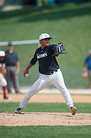 Pitcher Leyber Hernandez (13) during the Dominican Prospect League Elite Underclass International Series, powered by Baseball Factory, on August 1, 2017 at Silver Cross Field in Joliet, Illinois.  (Mike Janes/Four Seam Images)