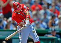 16 June 2012: Washington Nationals third baseman Ryan Zimmerman in action against the New York Yankees at Nationals Park in Washington, DC. The Yankees defeated the Nationals in 14 innings by a score of 5-3, taking the second game of their 3-game series. Mandatory Credit: Ed Wolfstein Photo