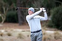 PINEHURST, NC - MARCH 02: Ben van Wyk of Augusta University tees off on the third hole at Pinehurst No. 2 on March 02, 2021 in Pinehurst, North Carolina.