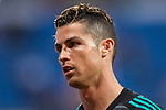 Cristiano Ronaldo of Real Madrid looks on prior to the La Liga 2017-18 match between Real Madrid and Athletic Club Bilbao  at Estadio Santiago Bernabeu on April 18 2018 in Madrid, Spain. Photo by Diego Souto / Power Sport Images