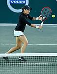 April 5,2018:   Caroline Garcia (FRA) split sets with Alize Cornet (FRA) 7-5, 1-6, at the Volvo Car Open being played at Family Circle Tennis Center in Charleston, South Carolina.  ©Leslie Billman/Tennisclix/CSM