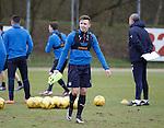 Rangers u20 striker Scott Roberts training with the first team