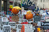 March and rally in London against the state visit by US President Donald Trump. Hundreds of thousands of people attended. 13-7-18