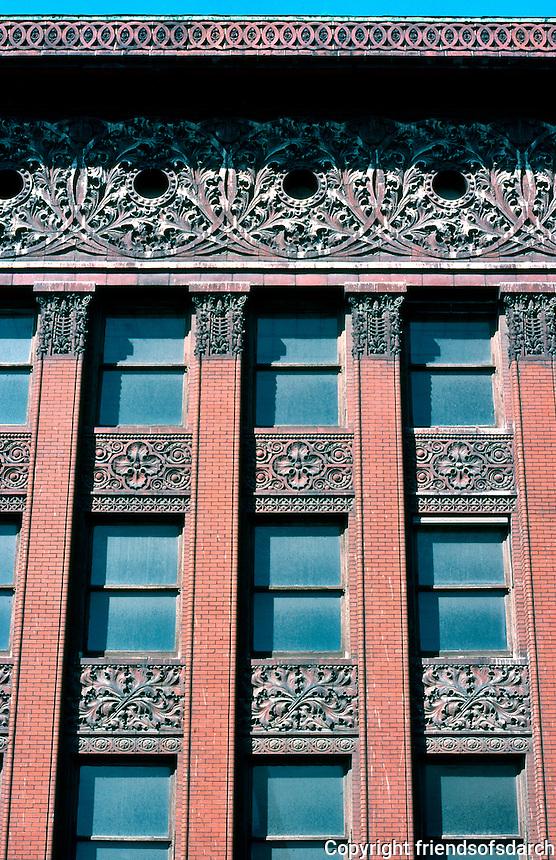 Louis Sullivan: Wainwright Bldg. Facade, Detail, Roof.  Photo '77.