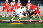 Baltimore, MD - March 3:  Face- off during the Fairfield v UMBC mens lacrosse game at UMBC Stadium on March 3, 2012 in Baltimore, MD.