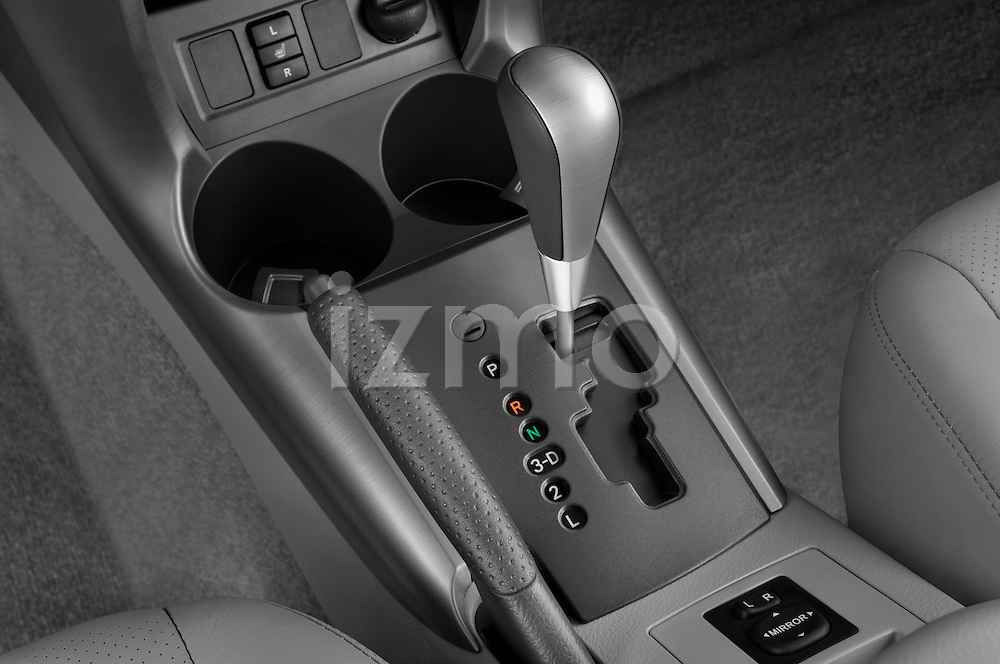 Gear shift detail view of a 2008 Toyota Rav4 Limited Stock Photo
